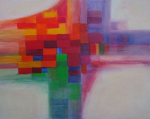 "Abstract Contemporary Modern Painting - ""Patchwork Quilt"""